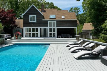 Pool and beautiful house